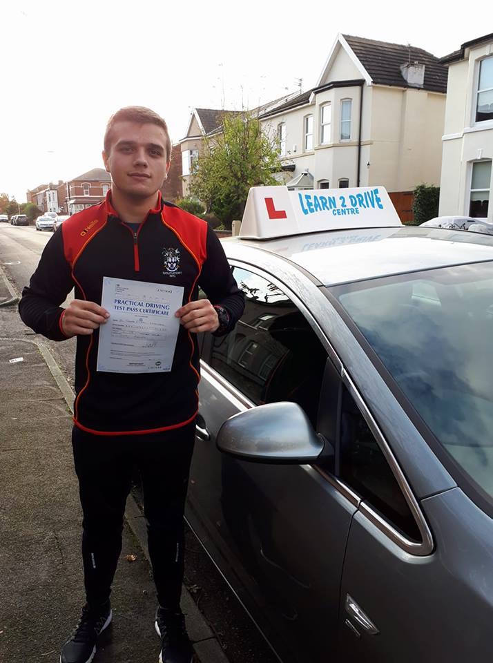 Tom Smallwood Passes his test